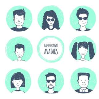 Hand Drawn Avatars