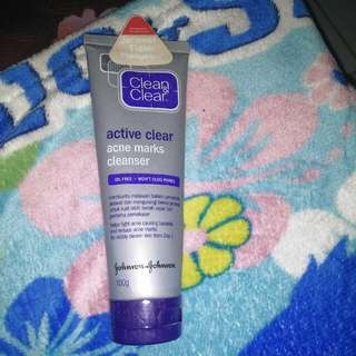 Clean&clear active clear acne marks cleanser
