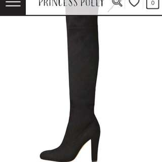 Knee High Black Boots Size 7