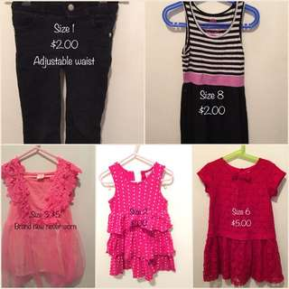 Various Items Clothes And Toys