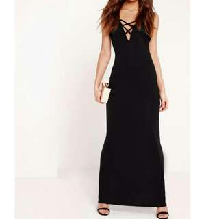 NEW Missguided Front Criss Cross Maxi Dress (With tag)