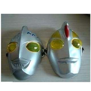 鹹蛋超人面具 化裝舞會面 加厚版 奧特曼 兒童面具 表演面具 非發光面具
