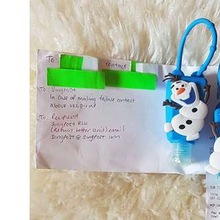 Item 62) Blue Olaf Sanitizer