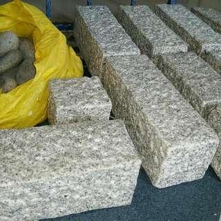 Unused Granite  Blocks (11pcs) Stones (30+pcs)