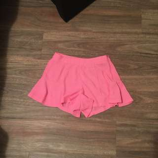Neon Pink Shorts Size 8