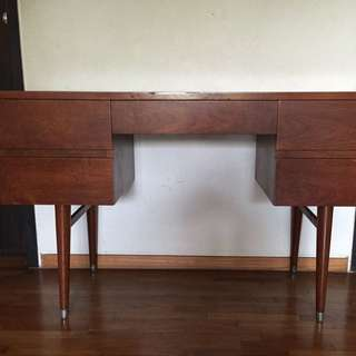 Retro Burmese Teak Desk Table