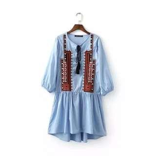 [PO] – H&M Inspired Bohemian Tribal Babydoll Dress *Classic*