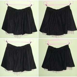 Black Lace Skort