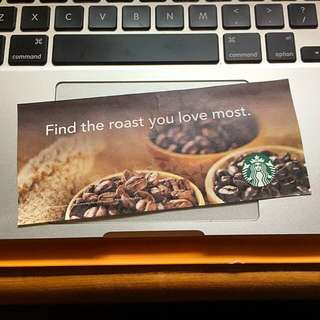 Starbucks Coffee Bean Coupon