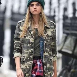 [PO DS17] Camouflage Boyfriend Oversized Jacket Outerwear