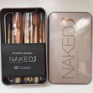 (bnib) naked 3 12 piece brushes