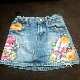Denim Skirt For Kids