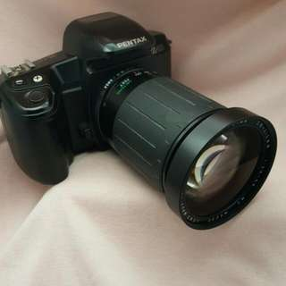 Pentax Z-10 With The All Black Cosina 28-210mm F3.5-5.6 Zoom Lens With Freebies.