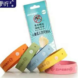 Pack of 10- Natural mosquito repellent bracelet.