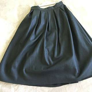 Brand New Knee Length Laser-Cut Leather Skirt