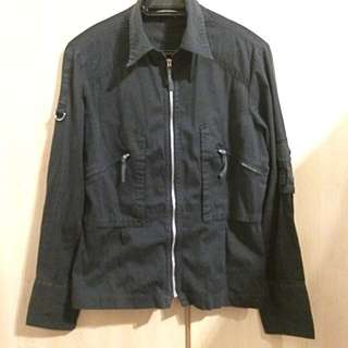 Black Cotton Thin Jacket