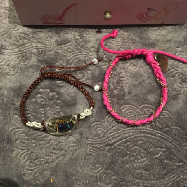 2 Drawstring Bracelets