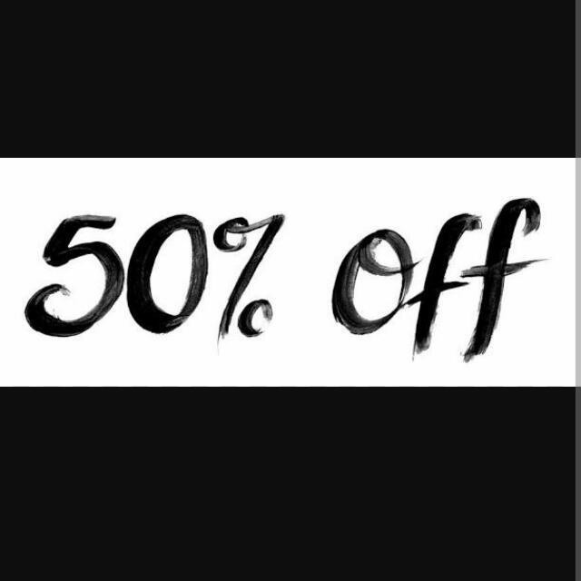 2nd Item 50% Off!!!!