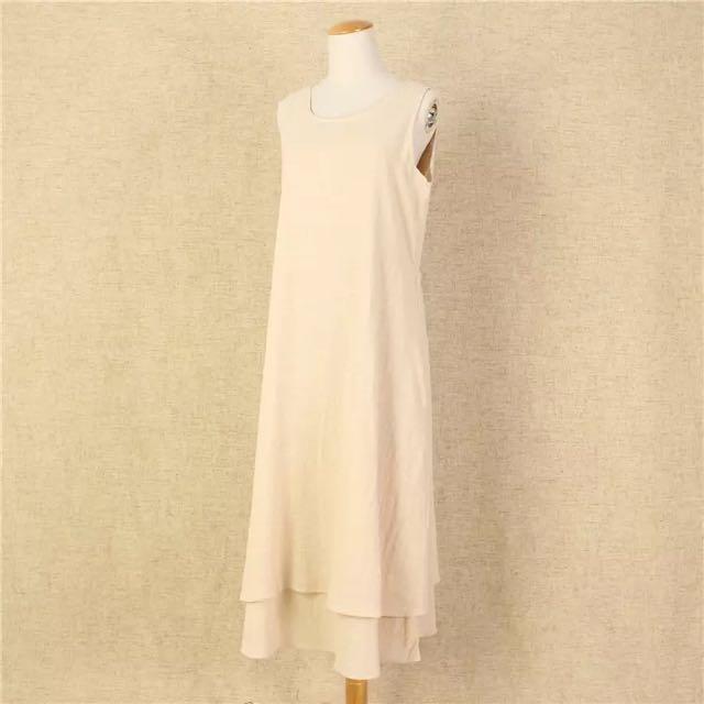 棉麻雙層文青長裙