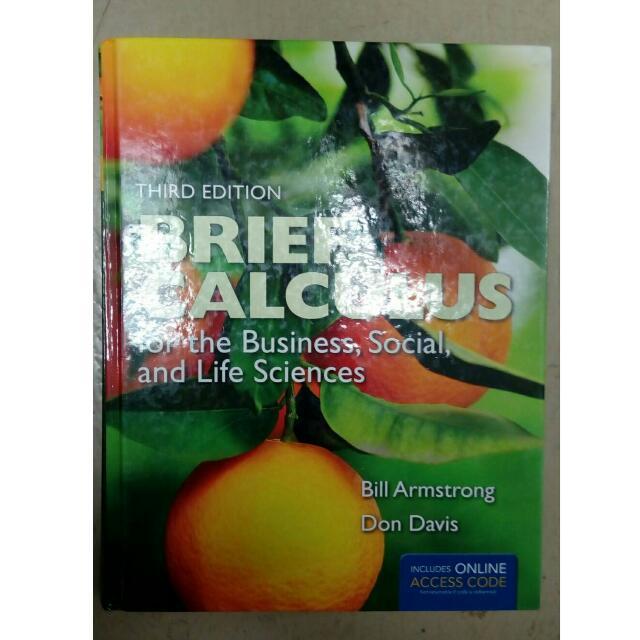 微積分 管理數學 簡易計算 Brief Calculus