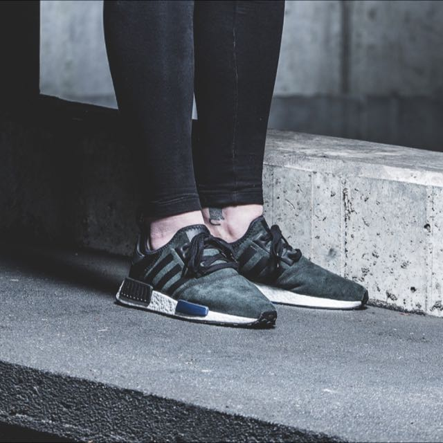 info for 1a075 28a00 Adidas NMD R1 Suede Pack Core Black Lush Ink W, Sports, Sports ...