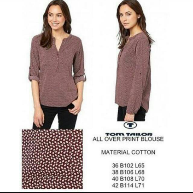 All Over Print Blouse Tom Tailor