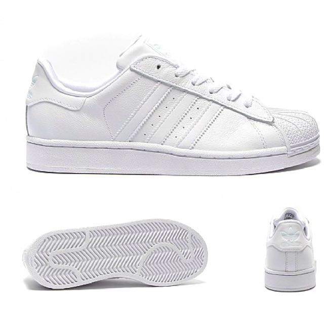 84f61f3d3282 Authentic Adidas Superstar All White