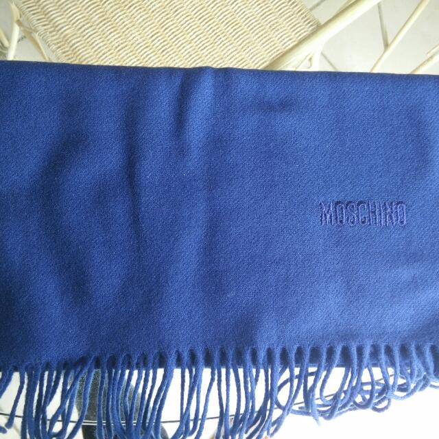Authentic MOSCHINO 100% lambwool scarf - Royal Blue