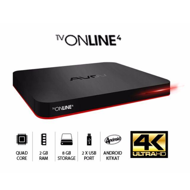Avov TVonline 4 - Latest 4K iptv Android Box