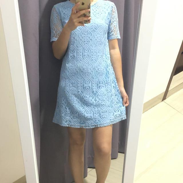 Baby Blue Lavey Dress