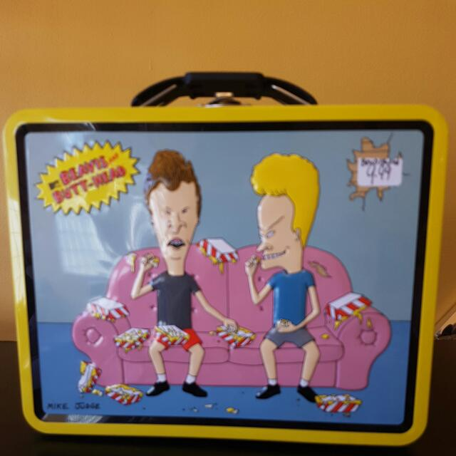 Bevis And Butter Head Tin Like New With VHS