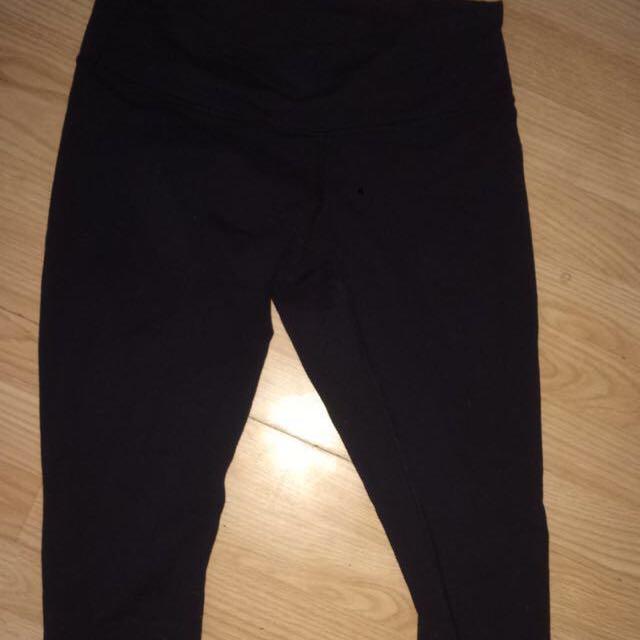 Black lululemon leggings (reversible)