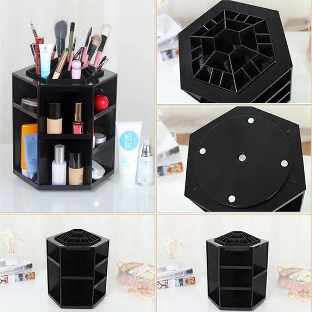 Black Rotating Makeup Organiser