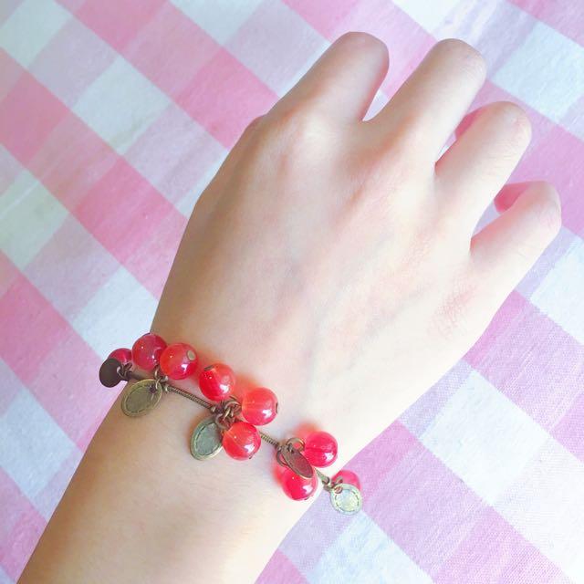 Cute Cherry Chain Bracelet