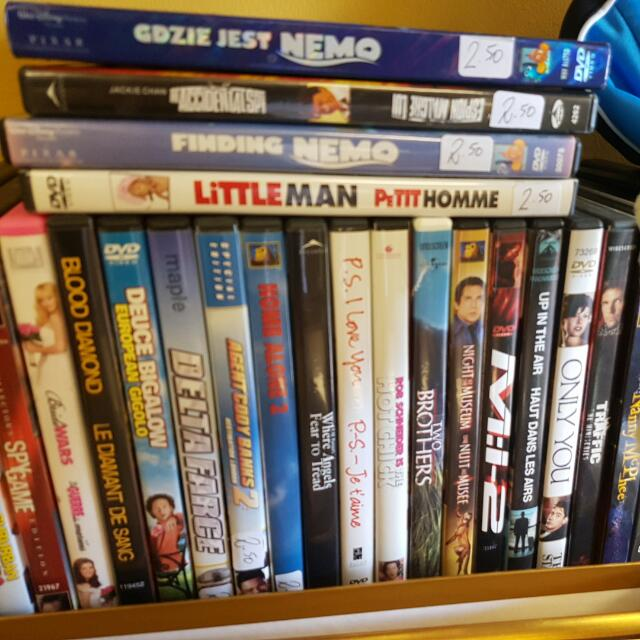 DVDs Assorted Price Is Each