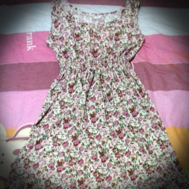 repriced floral, short dress