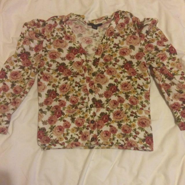 Flowerd Cardigan