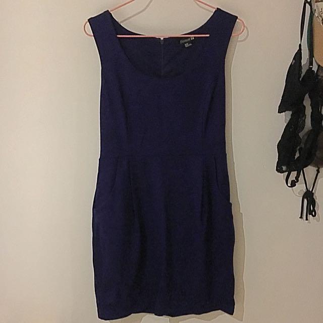 Forever New Purple Work Dress