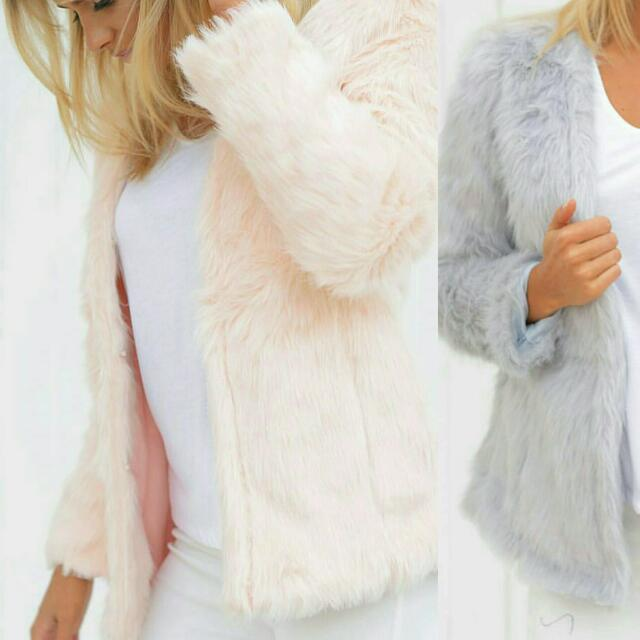 Furry Pale Pink Jacket / Blazer