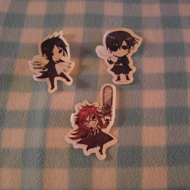 Grell, Ciel, And Sebastian Stickers