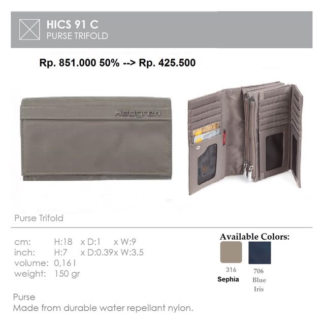 Hedgren Fold Wallet ICS 80