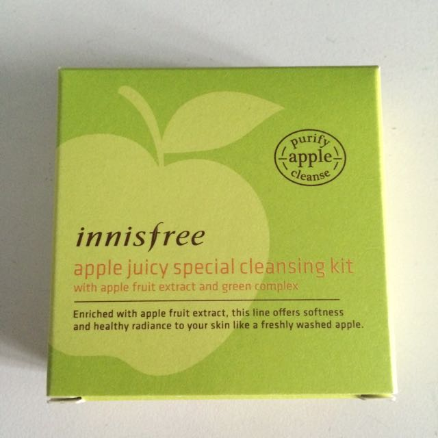 Innisfree apple juice cleansing kit