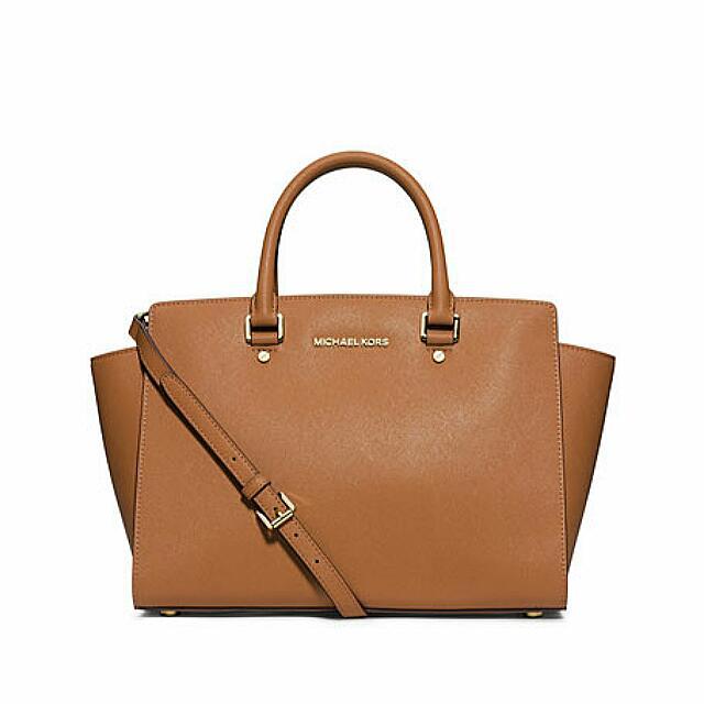 Michael Kors Large Selma Bag (Peanut Colour)