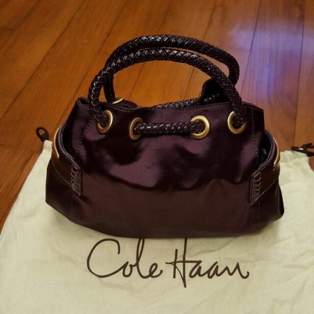 6821619f359 Mini Purple Satin Cole Haan Handbag, Luxury, Bags & Wallets on Carousell
