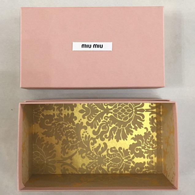 86eba031afcc Miu Miu Box Hard Paper For Wallet Small Bag