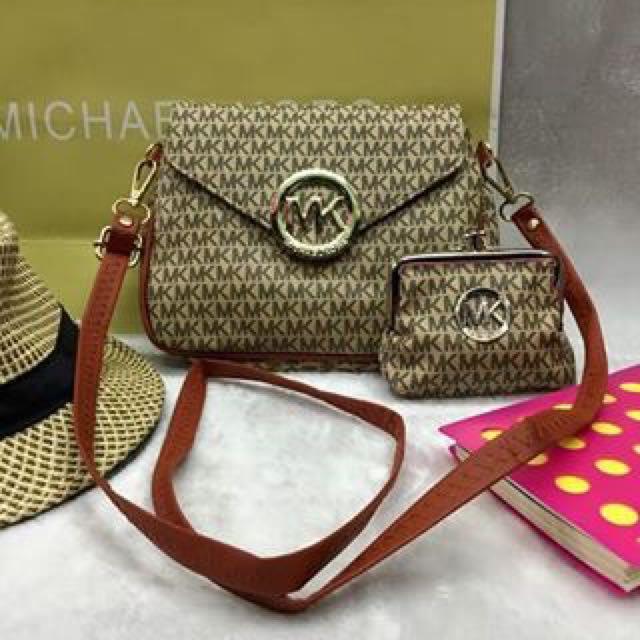MK bag&wallet set