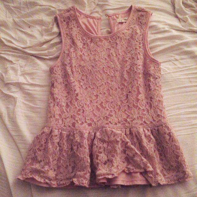 Pretty Pink Dress Top