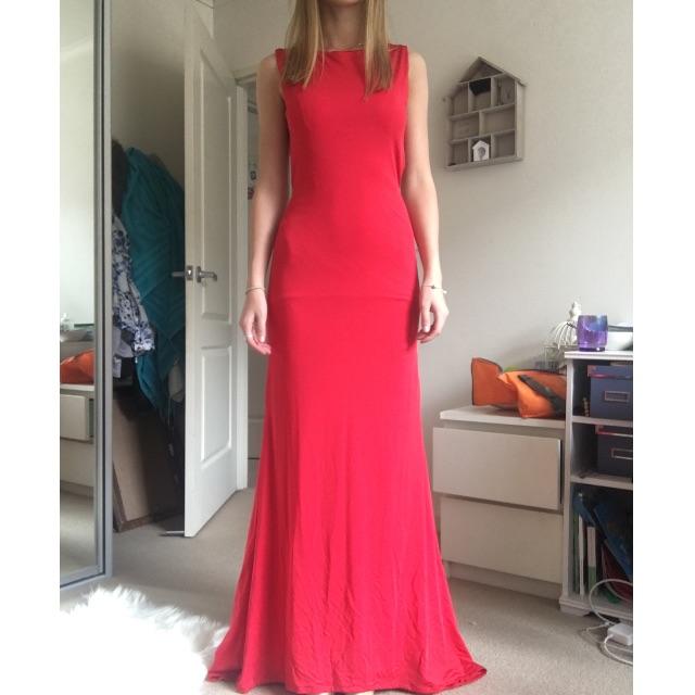 Red Backless Formal Dress