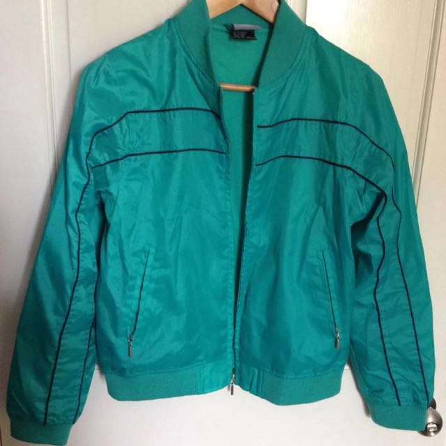 Retro Green Windbreaker Jacket