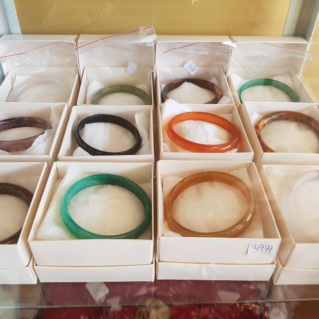 Semi Precious Stone Bracelets From Thailand Price Is For each -new